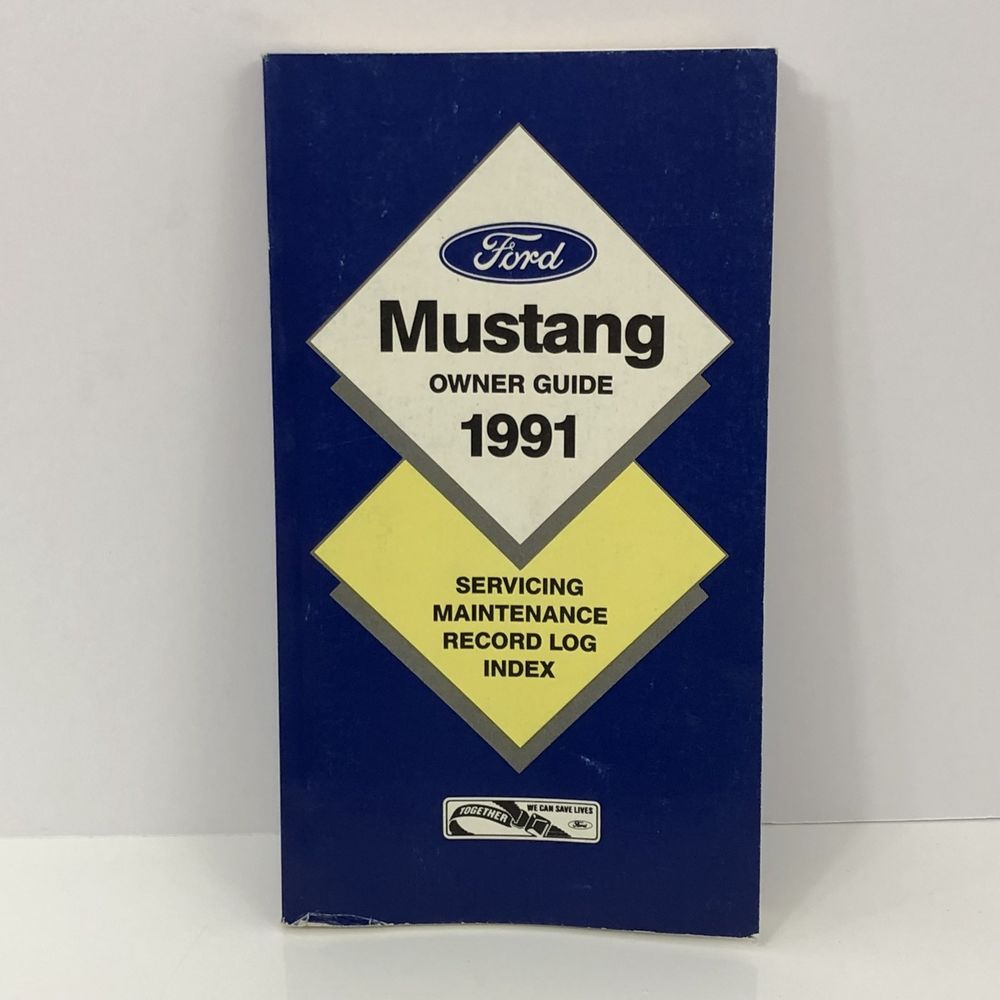 1991 ford mustang owners manual guide vintage ford motor co first rh pinterest com 2007 ford mustang owners manual 2018 Ford Mustang