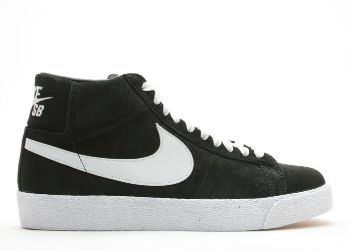 black and white nike blazer
