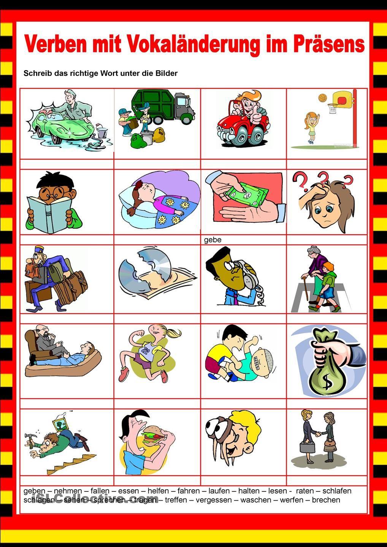 Willkommen auf Deutsch - Vokaländerungen - Verben | Verbos