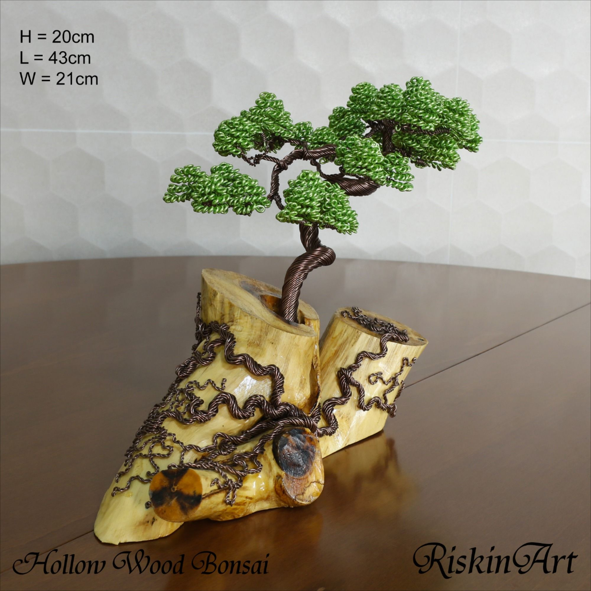 free shipping Mini Gold Wire Bonsai Tree