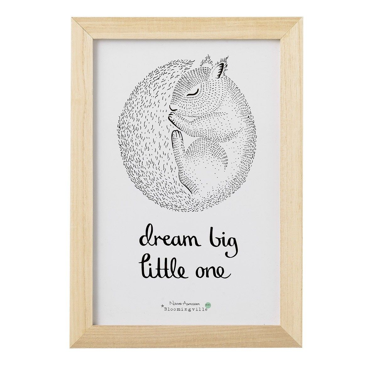 Schlaf gut mein Schatz - Bilderrahmen von Bloomingville | Kids Room ...