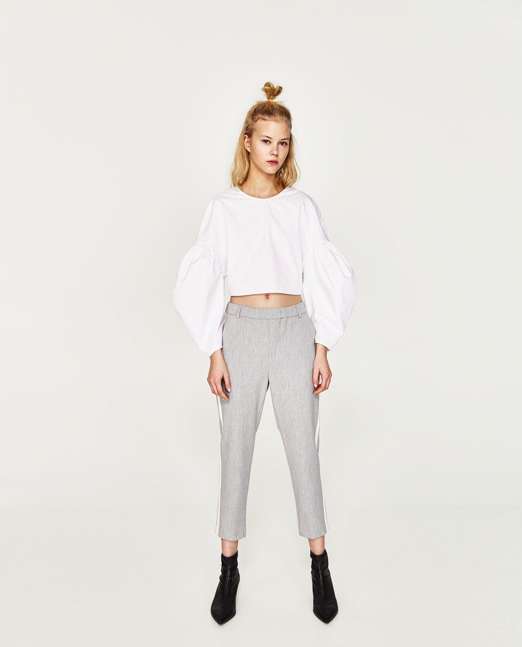 Pantalon Chino Banda Lateral Ver Todo Pantalones Mujer Zara Costa