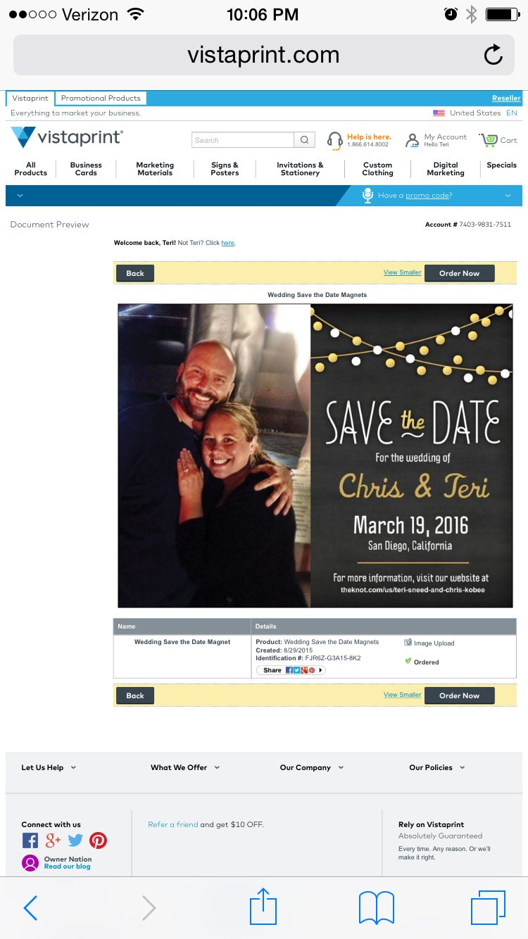 Save the date from Wedding save