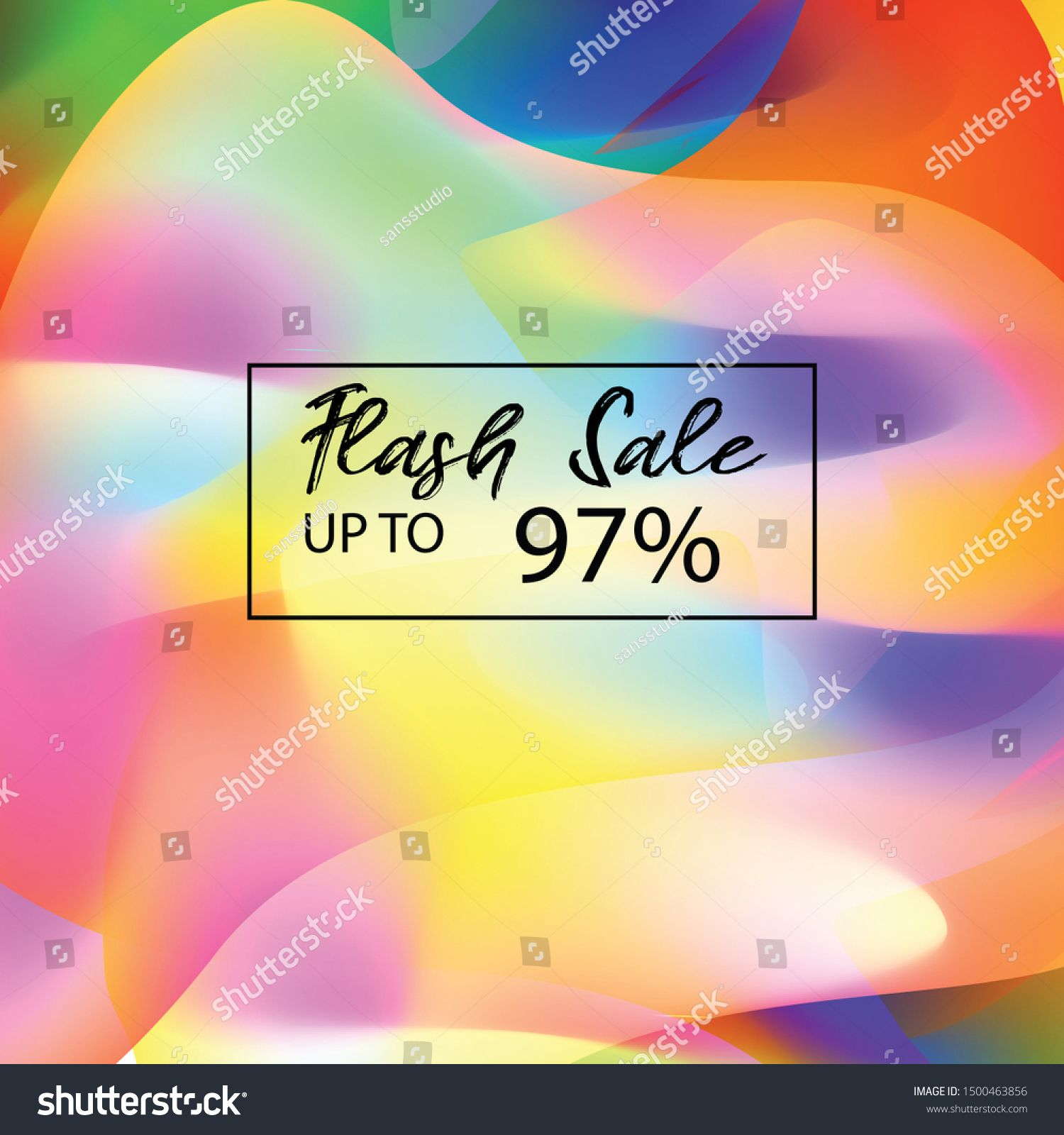 Background Abstract Color Full Flash Sale Vector Design