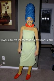 Coolest Marge Simpson Costume For A Girl Marge Simpson Costume Simpsons Costumes Marge Simpson
