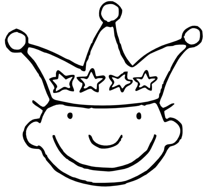 kroon jules 4 kleurplaten verjaardagskroon knutselen thema