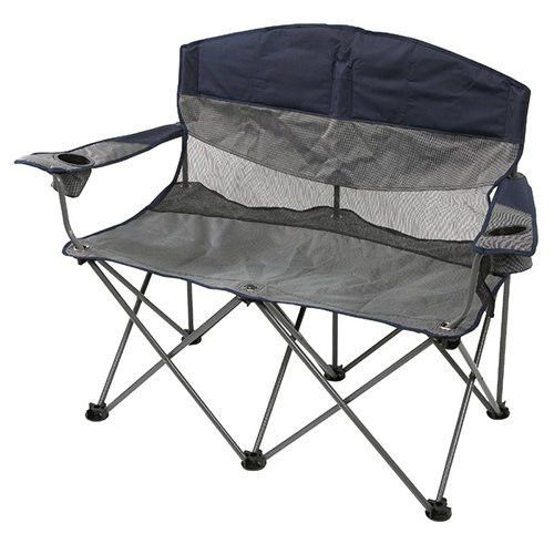Two Person Folding Camping Chair Outdoor Hiking Gear Double Arm Fold Up  Loveseat