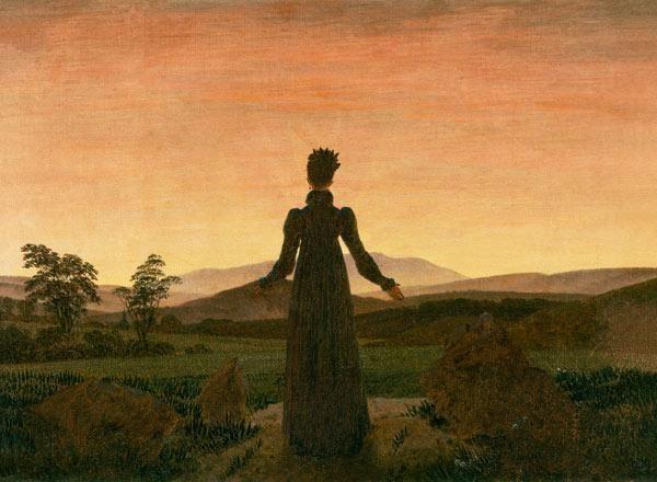 Caspar David Friedrich - Femme au soleil du matin