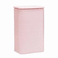 Chelsea Collection Wicker Apartment Hamper Crystal Pink