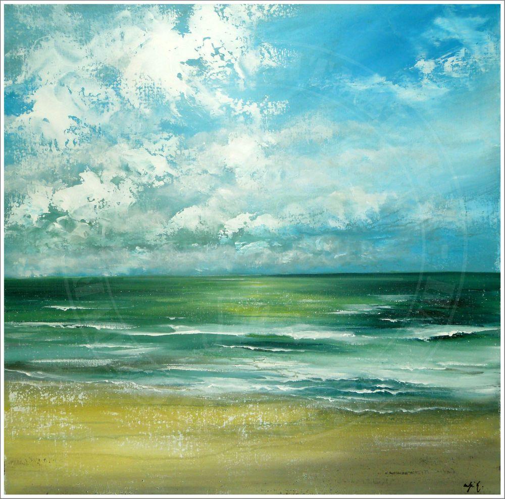 antje hettner bild original kunst gem lde leinwand malerei abstrakt xxl acryl ocean sea and. Black Bedroom Furniture Sets. Home Design Ideas