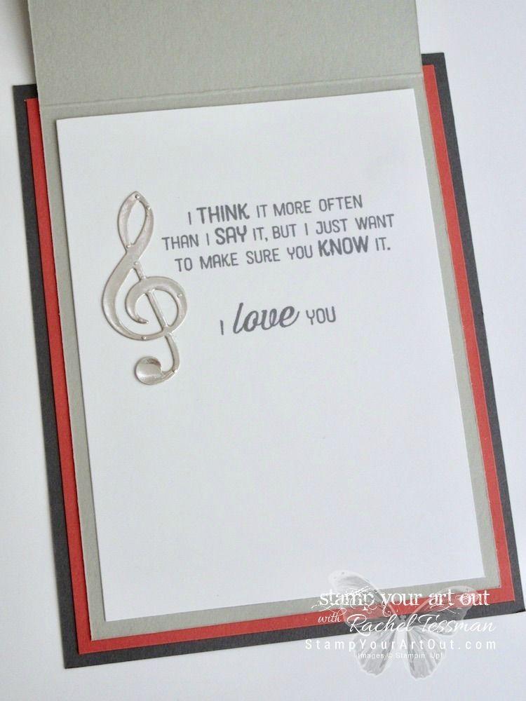 Music Notes Birthday Card Marybethstimeforpaperblogspotcom