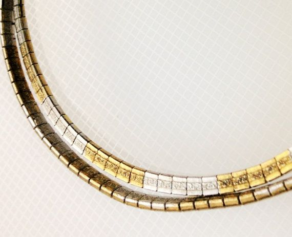 Omega 2 Tone Chain 16 inch Omega Retro 80s Omega 2 tone Chain 2 Sided Gold 16