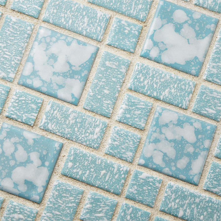 University Blue 11 3 4 X11 3 4 Porcelain Mos Porcelain Mosaic Tile Porcelain Mosaic Porcelain Flooring