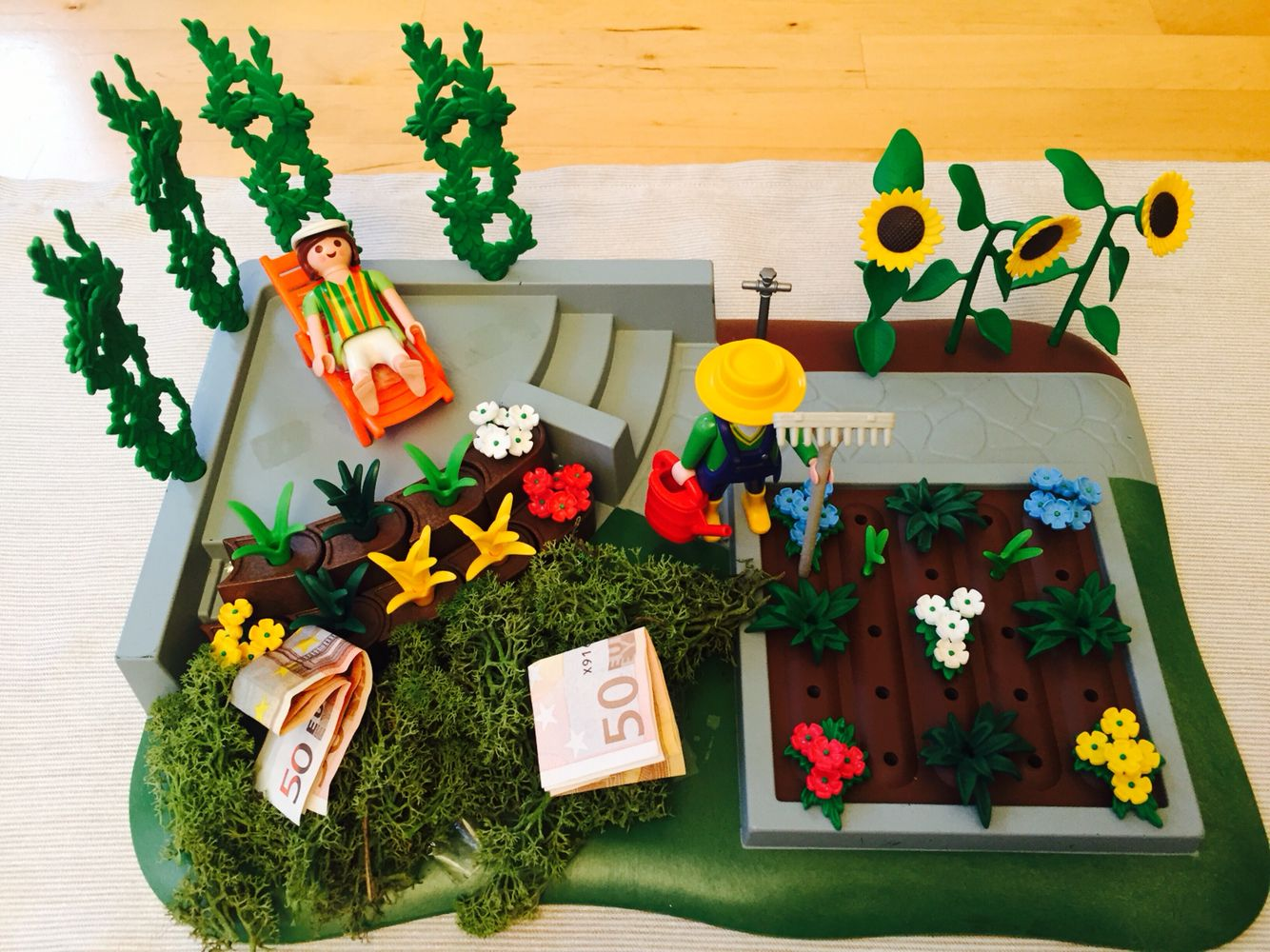Supertolles playmobil garten geldgeschenk geschenke - Playmobil basteln ...