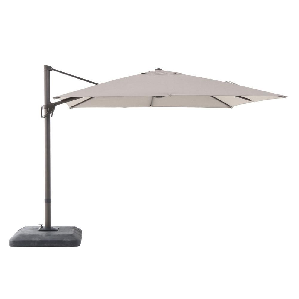 10 Ft X 10 Ft Commercial Aluminum Square Offset Cantilever Outdoor Patio Umbrella In Sunbrella Cast Shale Yjaf 819c Scs Outdoor Patio Umbrellas Offset Patio Umbrella Patio