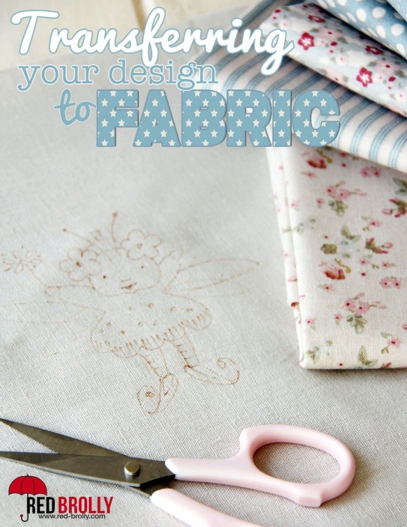 How to transfer your embroidery design onto fabric image