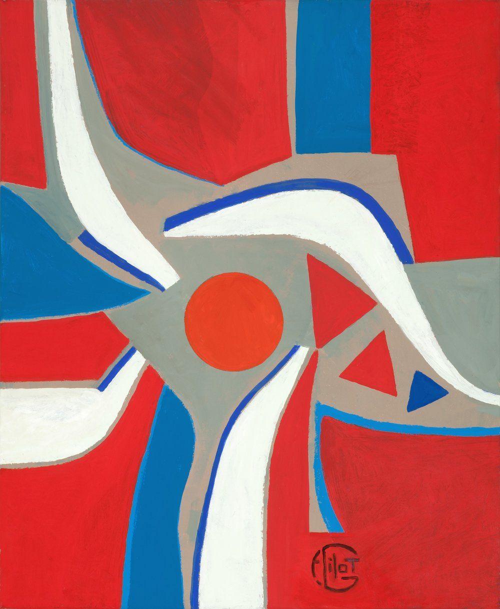 'Fiesta' (2008) by Françoise Gilot Graphic design