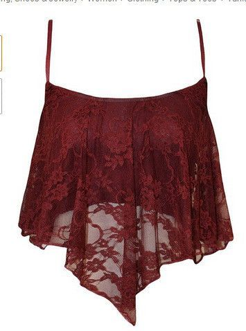 0d2d7aa4df6 Spaghetti Strap Lace Fly-away Scoop Crop Top
