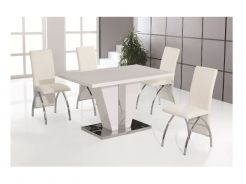 Costello Dining Table 4 Costello Dining Chairs White Dining