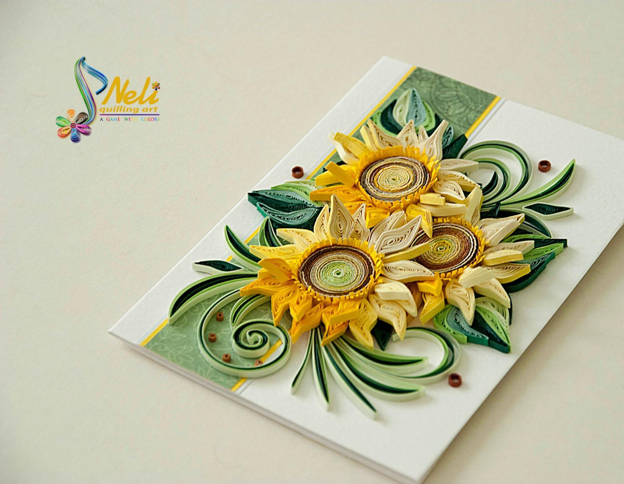 Святого валентина, объемная открытка подсолнух
