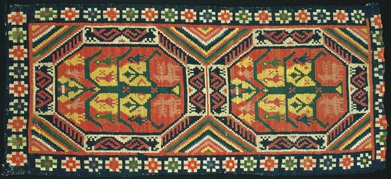 Cushion from Southern Sweden (Skåne) double-interlocked tapestry - rölakan.