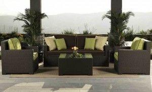 Teak Patio Furniture San Diego Klasik Rotan Ruang Keluarga