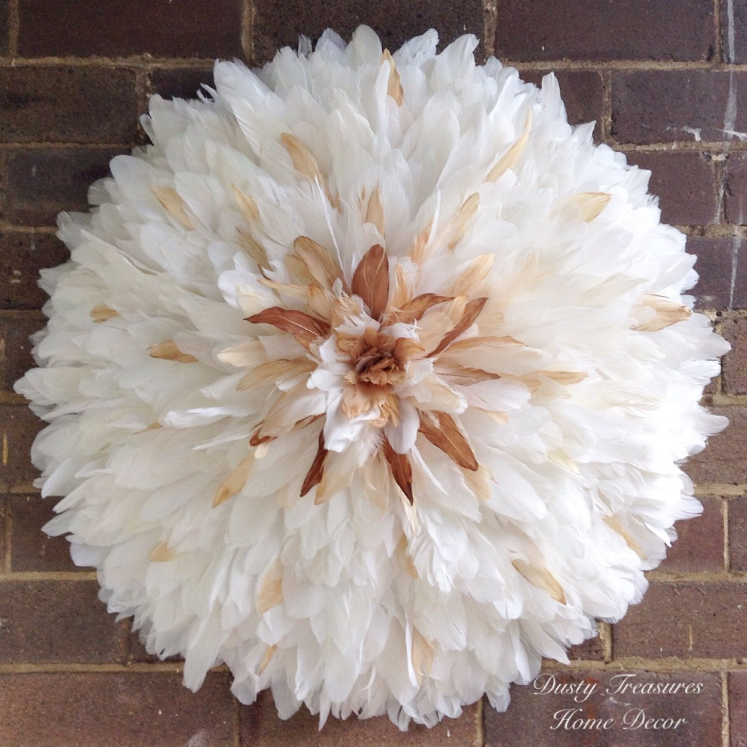 Goose Feathers Juju Hat Designed And Made By Dusty Treasures Home Decor One Off Piece Hat Wall Juju Hat Creative Display