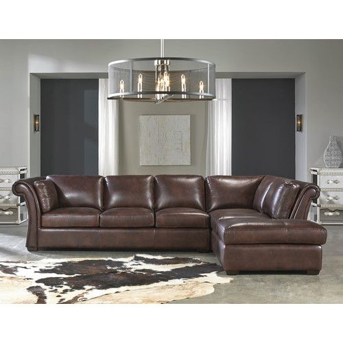 Found It At Wayfair Angelina Leather Sectional With Images