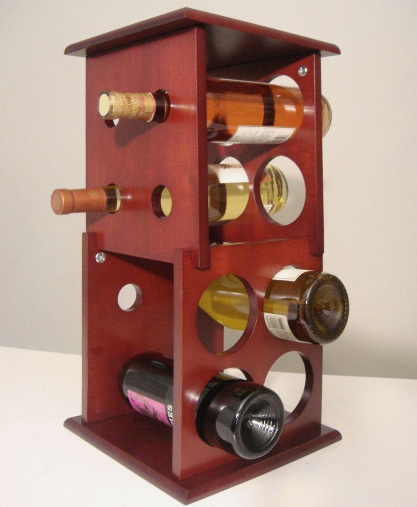 Proman Products Wine Holder Fuji 2 Layer Wine Rack In Mahogany Wine Rack Table Top Wine Rack Bottle Rack