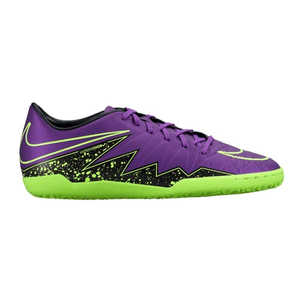 NIKE HYPERVENOM PHELON II IC Men s Soccer Grape Volt Black size 6 5 NIB Nike