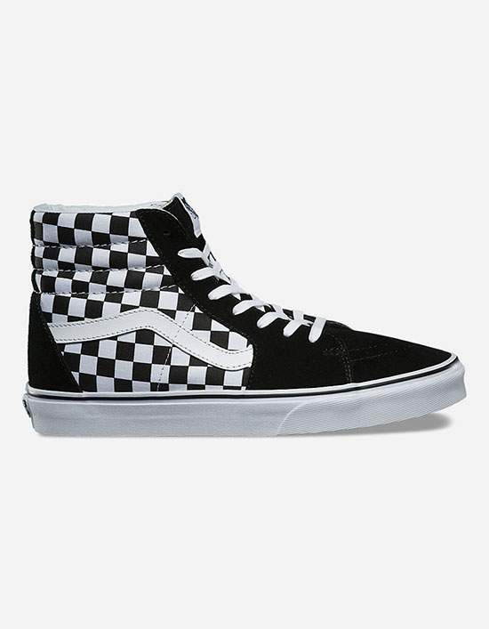 Vans Checkerboard Sk8 Hi shoes. Vans The Checkerboard Sk8 Hi