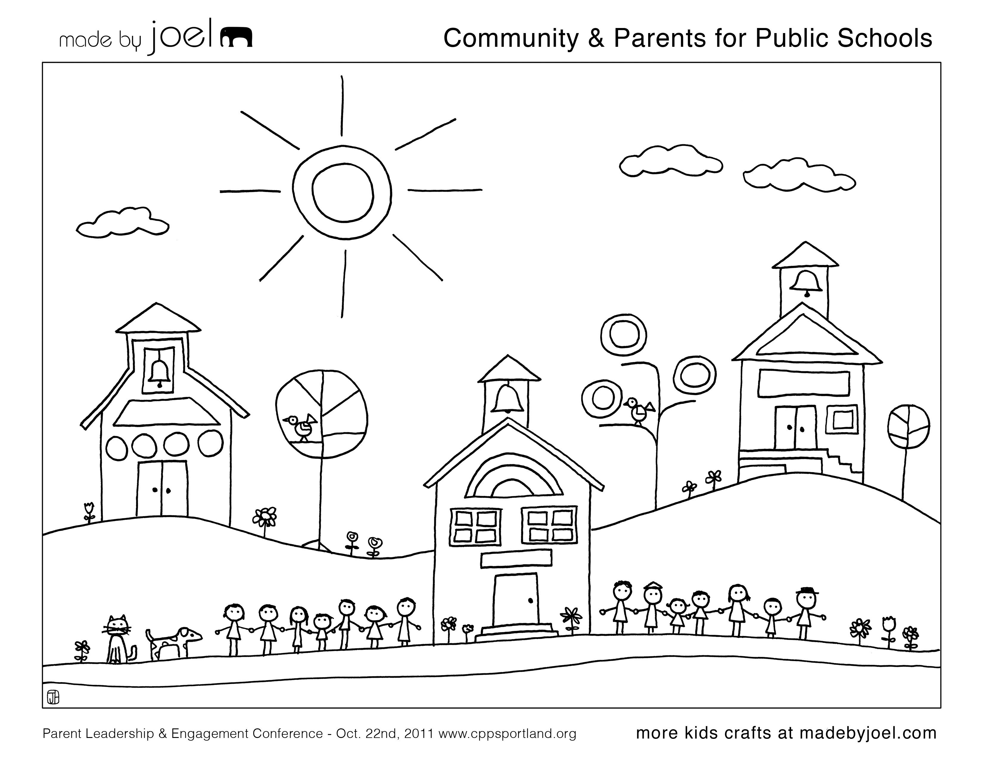 Made by Joel » Community & Parents for Public Schools Coloring Sheet ...