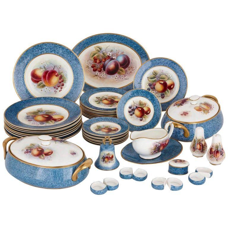 1stdibs Porcelain Dursley Dinner Set Decorated James Skerrett English Porcelain In 2020 Porcelain Antique Tea Sets Dinner Sets