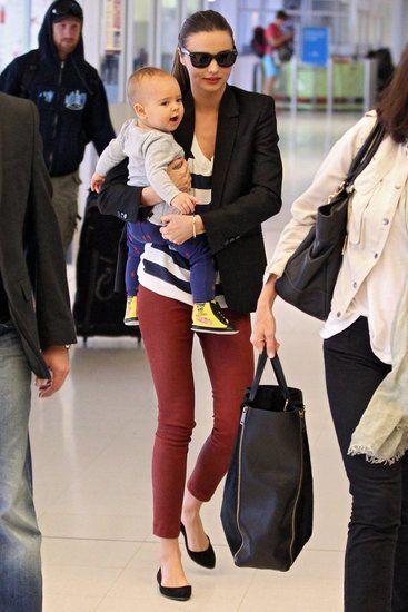 Miranda Kerr. Some serious mommy style.