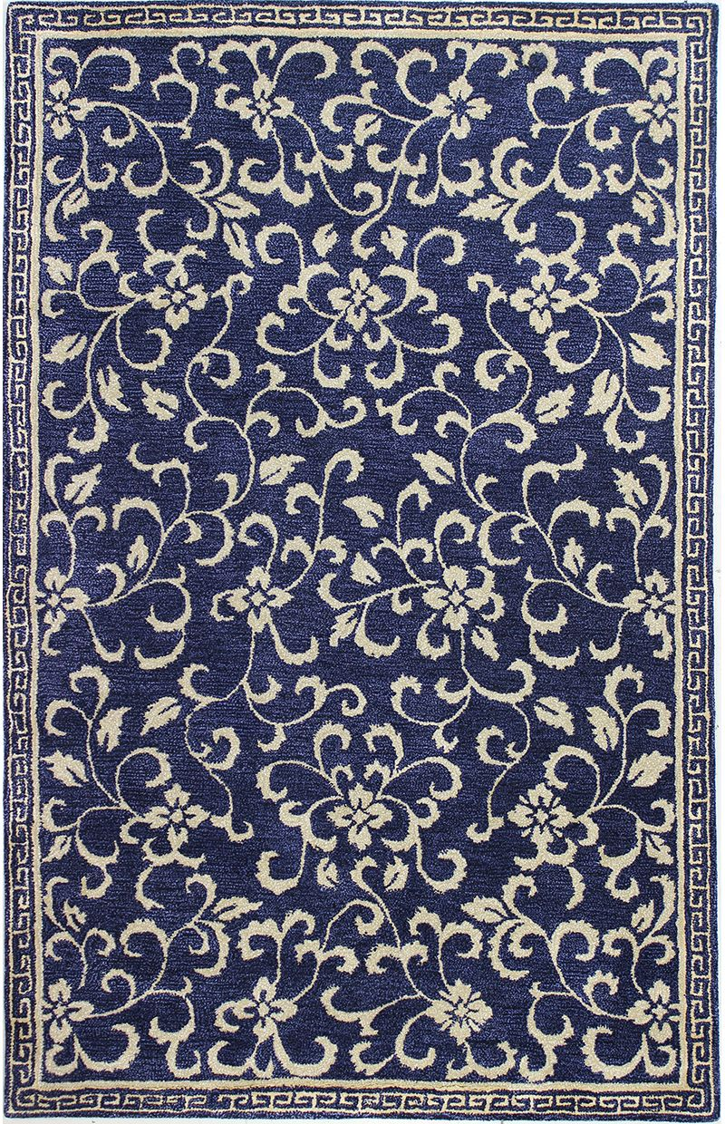 Bashian Rug Collections Greenwich Rugs Hand Tufted Rugs Navy Area Rug