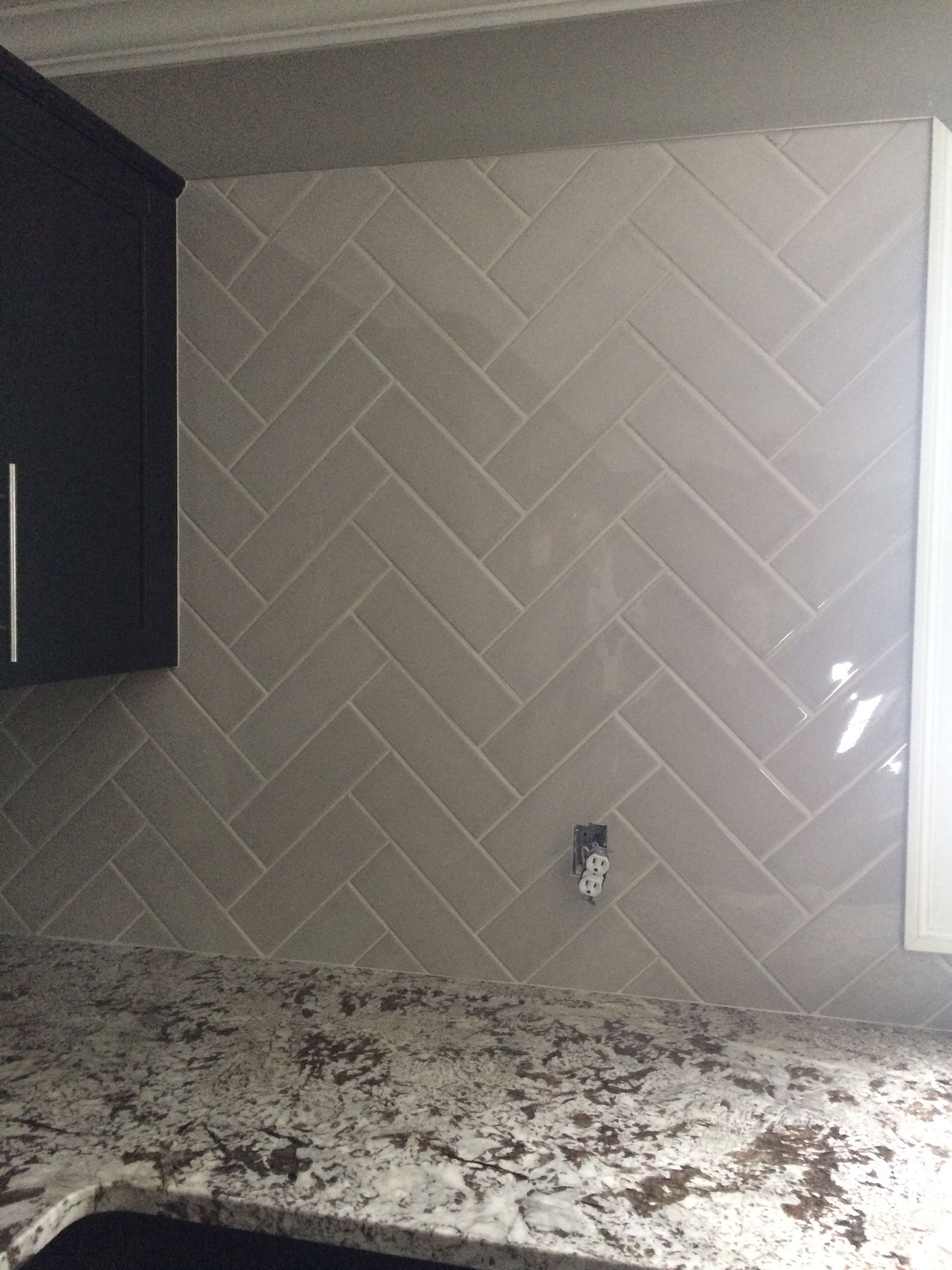 Allen And Roth Pearl Subway Tile 4x12 Herringbone Pattern