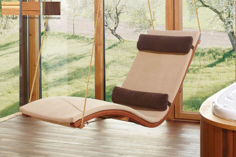 schwebeliege siesta heaven ber hrt die sinne wohnen pinterest wellnessliege. Black Bedroom Furniture Sets. Home Design Ideas