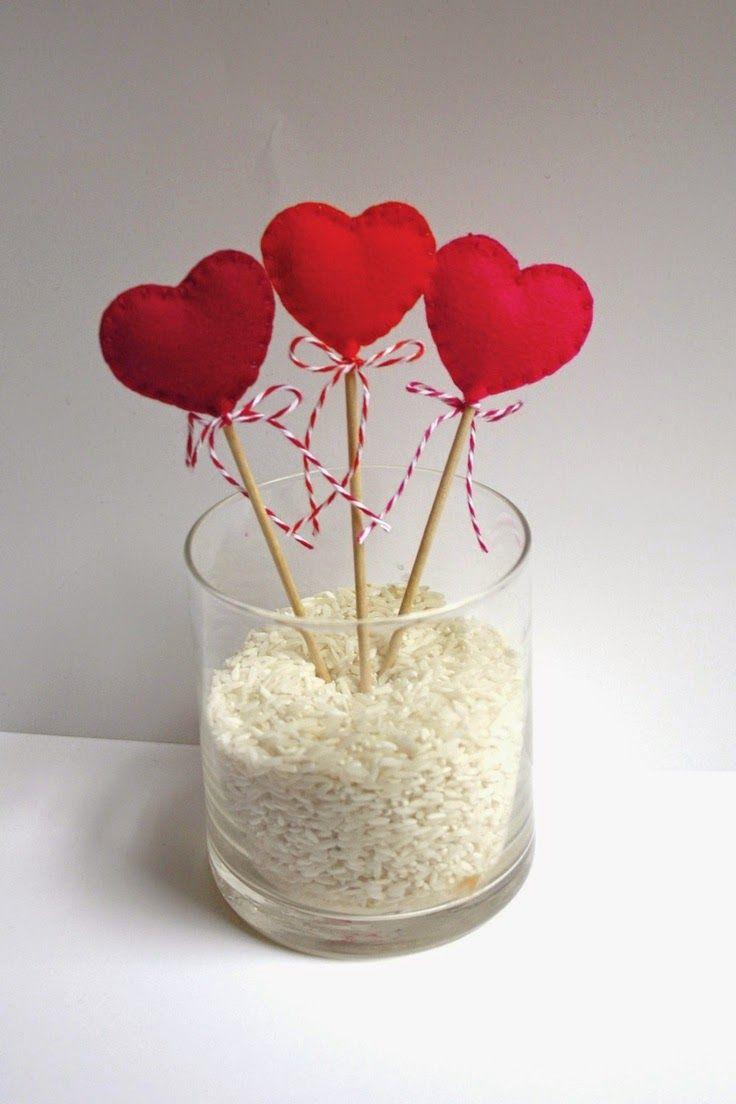 De 50 Ideas Para San Valentin Para Hacer En Casa Cosas Para Tu - Decoracion-san-valentin-manualidades