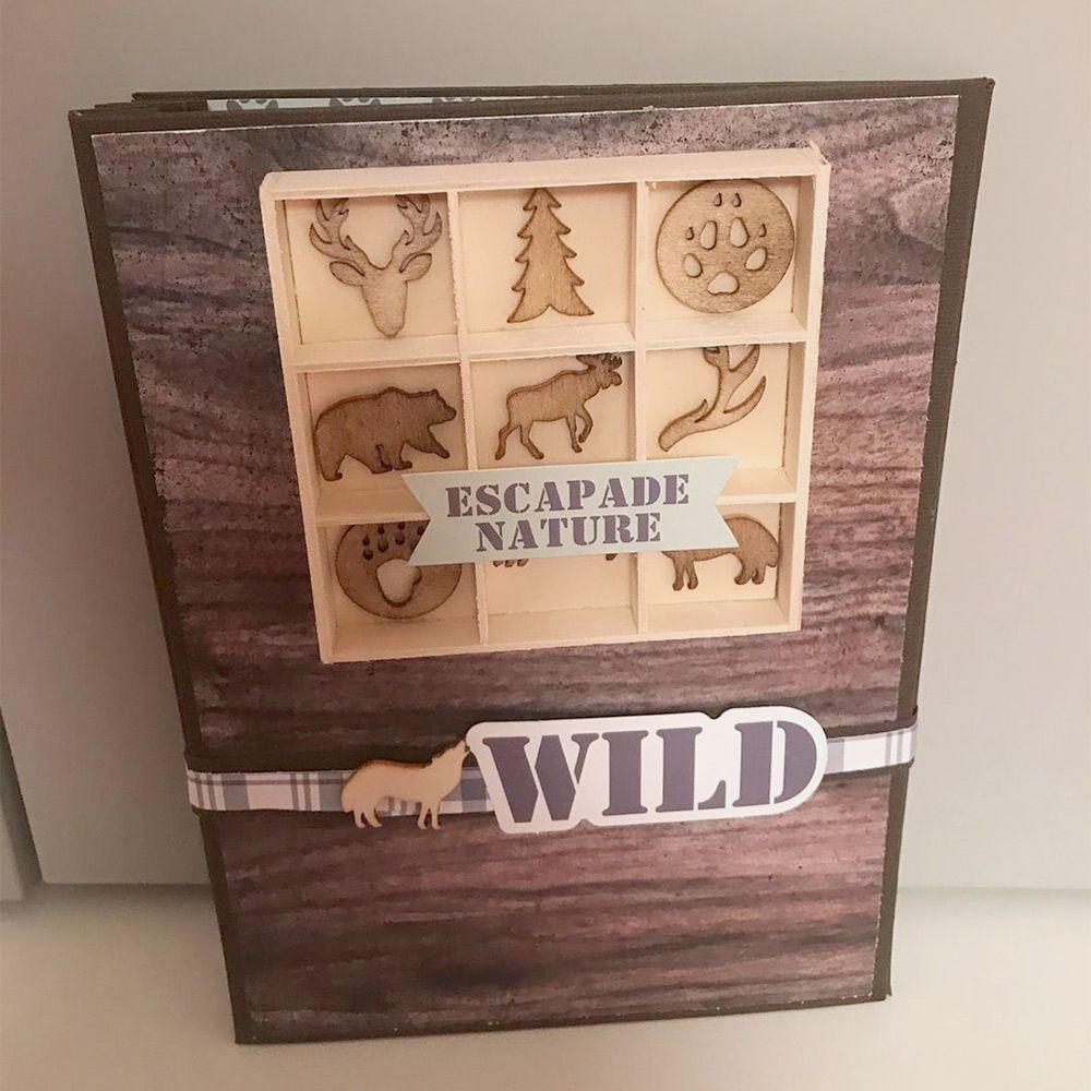 Retrouvez le matériel de scrapbookng et la vidéo complète de ce tuto mini-album Woodland sur Custodeco.com
