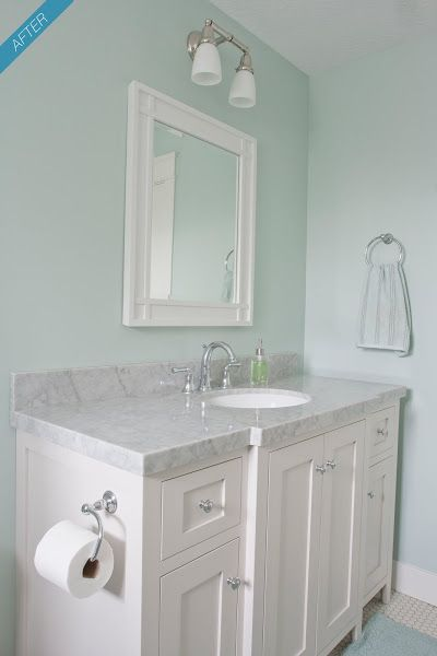 Benjamin Moore Palladian Blue Bathroom Google Search With Images Bathroom Wall Colors Painting Bathroom Trendy Bathroom