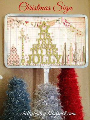 Shelly's Creations: A Christmas Sign and My 2013 Christmas Mantel Tour