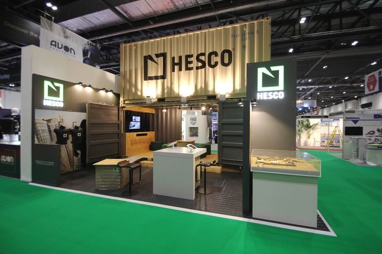 Exhibition Stand Installation : Shipping container exhibition stand
