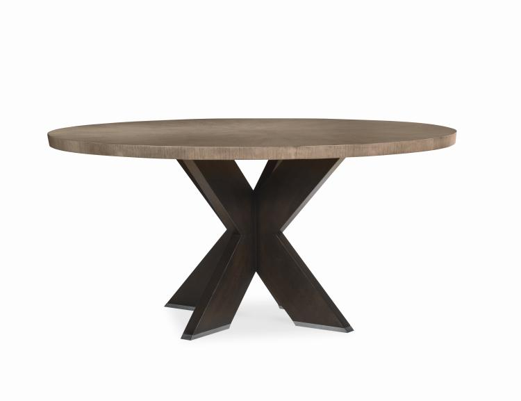 C5c 305 Casa Bella X Base Round Dining Table Combo Finish Timber Gray Charbrown Timber Dining Table Round Dining Table Dining Table