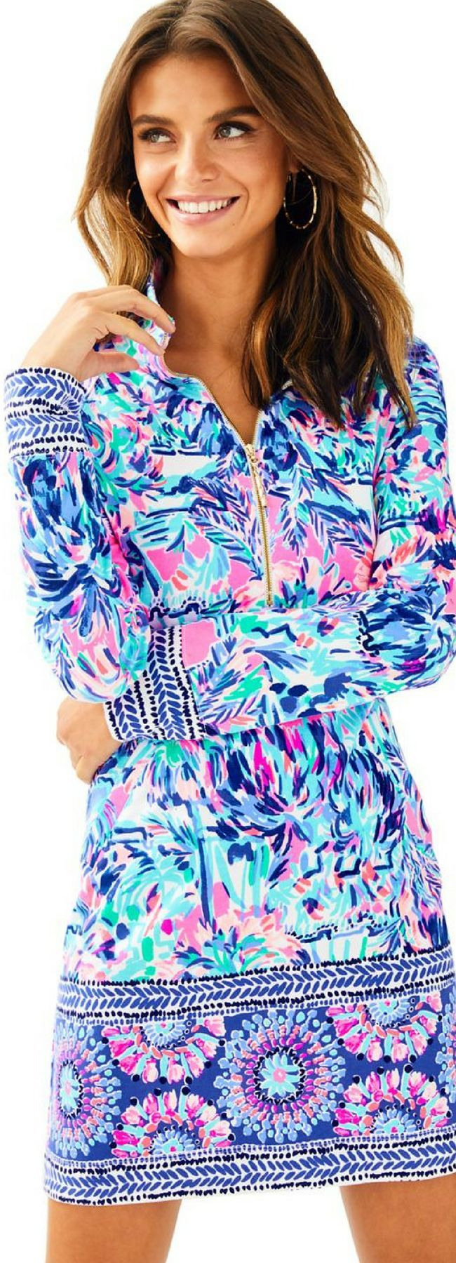 99007e63676 The Lilly Pulitzer Cabana Cocktail print has been engineered specially for  the Skipper Dress. A patterned band lines the hem of this sporty chic  masterpiece ...