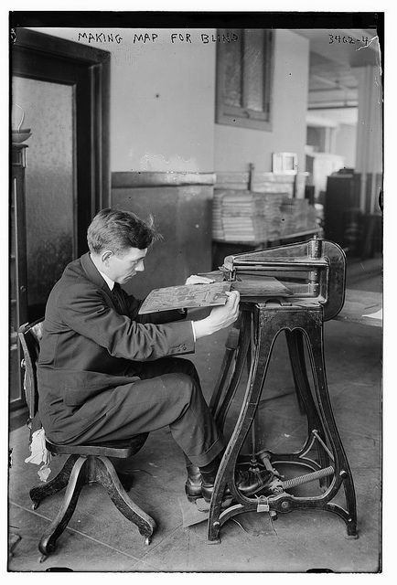 Making Map for Blind (LOC) by The Library of Congress, via Flickr