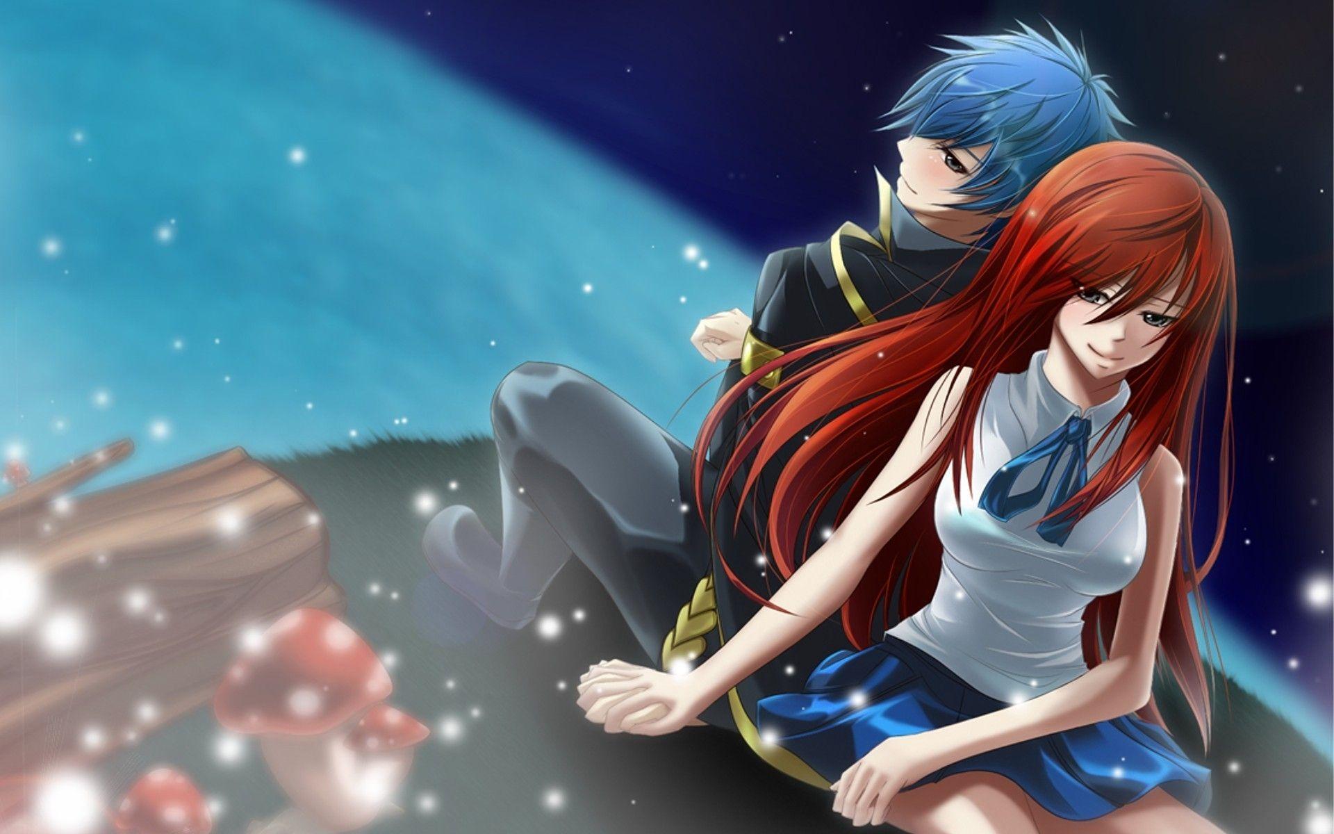 Fairy Tail Erza Jellal Wide Desktop Background wallpaper