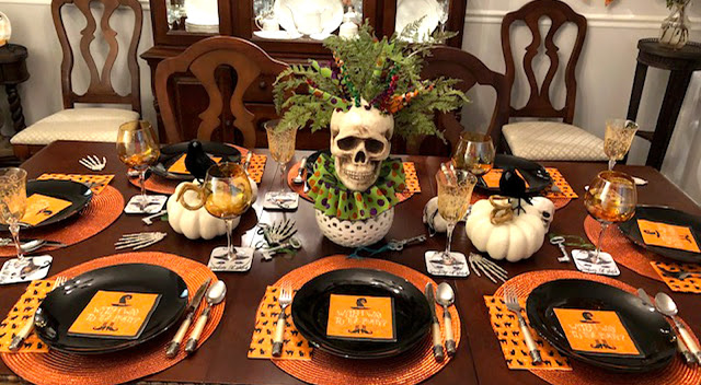 Jbigg Life In Kentucky Come Sit At Our Halloween Table In 2020 Halloween Table Halloween Party Napkins