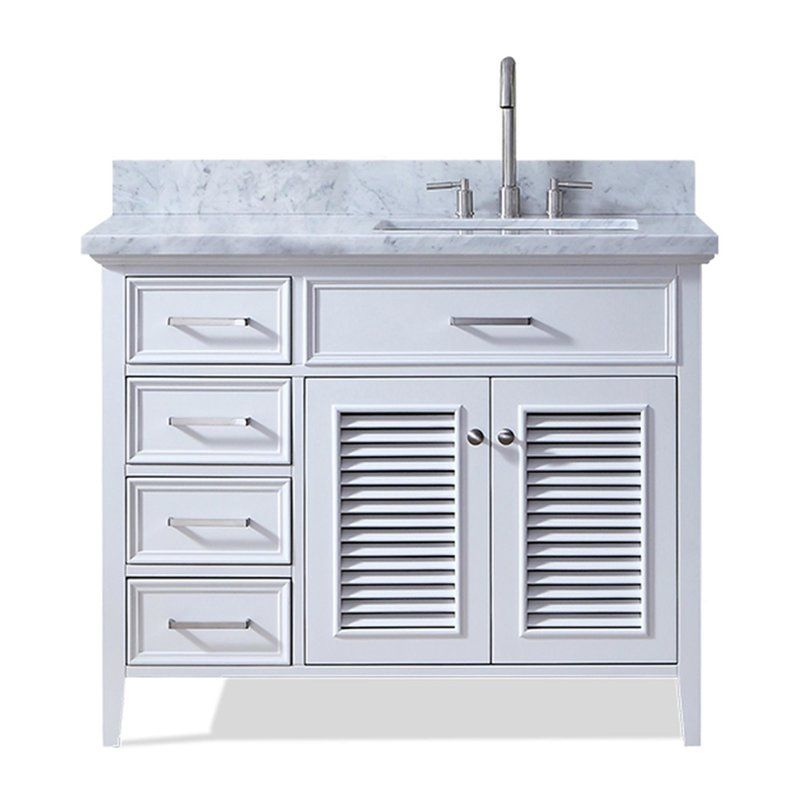 Hamil Modern 43 Single Bathroom Vanity Set Marble Vanity Tops