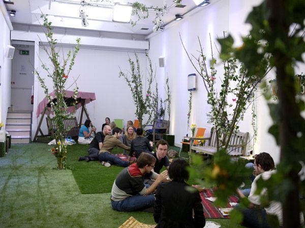 Image result for grass floor cafe