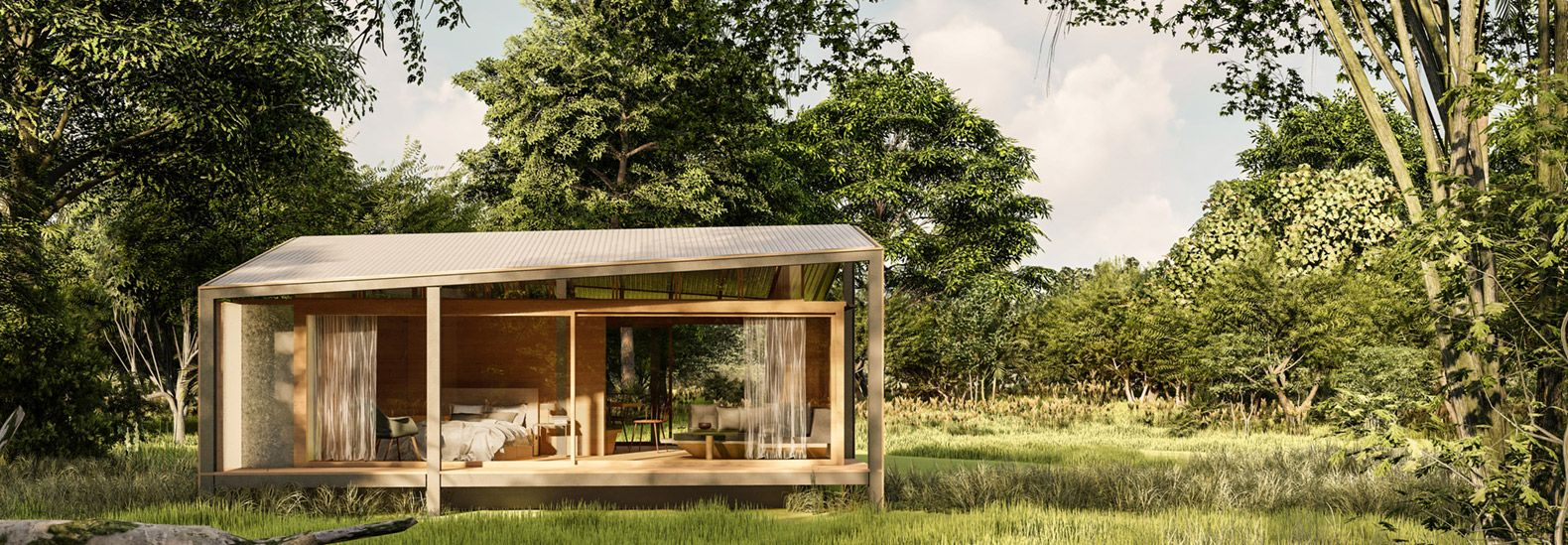 The Prefab Tiny Tetra House In Bali Is Made Of Recycled Waste In 2020 Studio Build Affordable Prefab Homes Modern Barn House